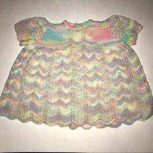 Other - Vintage Handmade Rainbow Crochet Top/Mini Dress